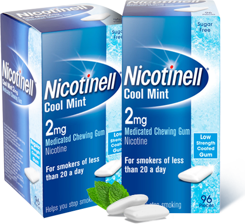 2mg cool mint gum, 2mg cool mint gum